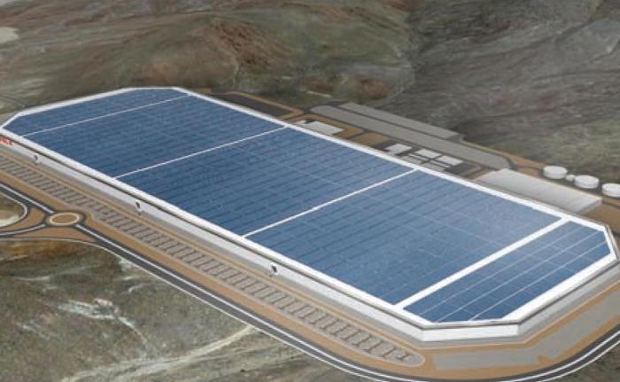Ecco come appare la Tesla Gigafactory di Sparks in una immagine progettuale (automotivenewseurope)