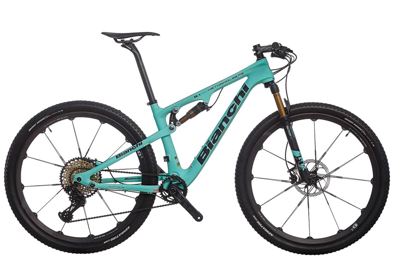 La mtb Bianchi Methanol FS, modello di mountain bike biammortizzata da cross country (sito bianchi.com)