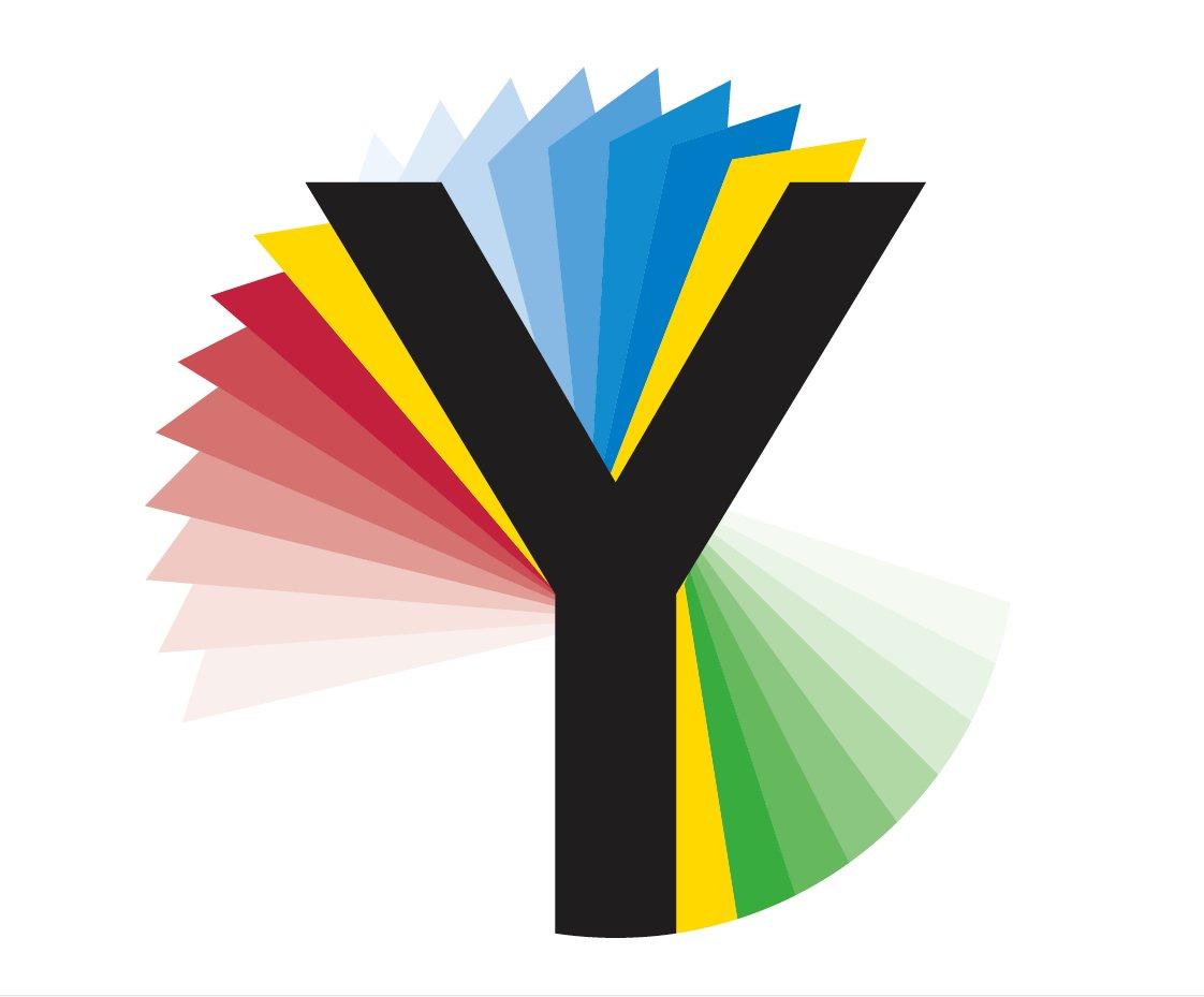 Logo stilizzato dei mondiali ciclismo 2019  nello Yorkshire (foto da twitter.com)