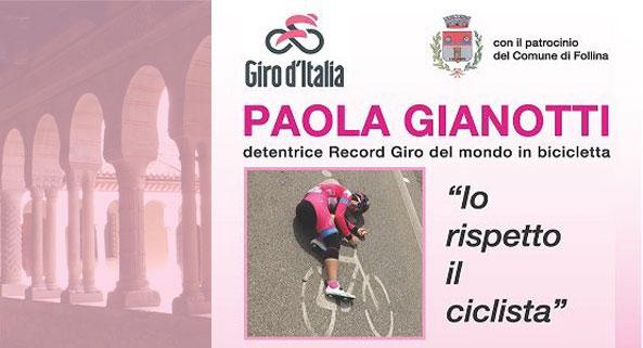 """Foto della campagna """"Io rispetto il ciclista"""""""
