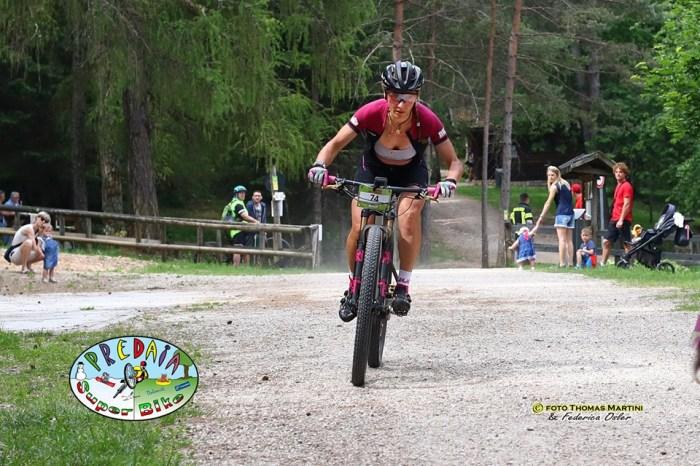 Lorenza Menapace in azione durante la gara (foto Thomas Martini e Federica Osler)