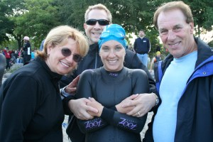 w/ Tom's parents and sister Diane, who competed in Vancouver Triathalon