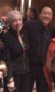 Leila Getz with Yo-Yo Ma