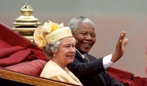 Nelson Mandela with Queen Elizabeth II