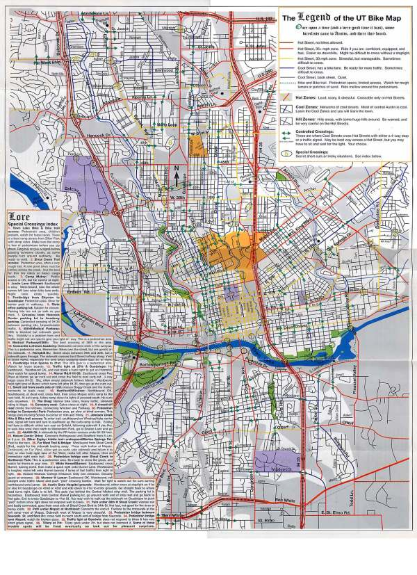 Routes Maps for Bicycling in and around Austin Texas