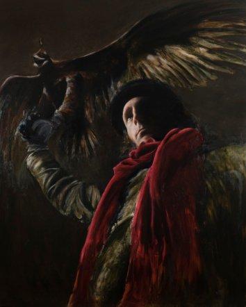 Jonnny Kelson Hunting, 2014 [JK.14] Oil on Canvas 60 x 48 in.