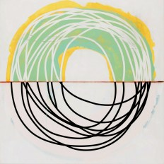 Neal Perbix Untitled, 2015 [NP.16] Acrylic, tape and chalk on canvas 48 x 48 in. *SOLD