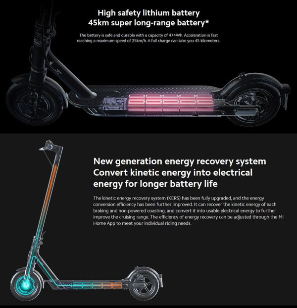 Xiaomi Mi2 Pro Electric Scooter Pro 2 -Powerfull Lithium Battery -45km Range - Sale In Bicycle Land