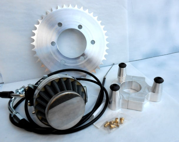 Bicycle Motor Works - 36 Sprocket Racing Carb Combo