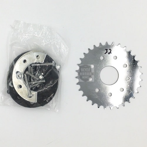 32 Tooth Sprocket with Mount + Hardware for 49cc 66/80cc Motorized Bicycle