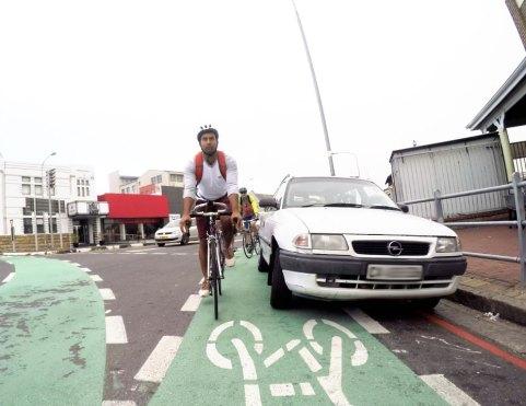 Car-in-bike-lane