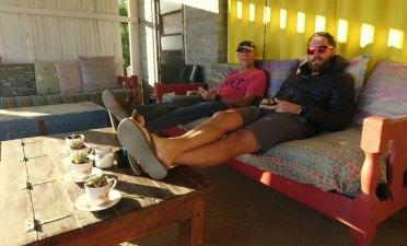 Jacques and Zane chilling in Hondeklipbaai. Photo by Seamus Allardice.