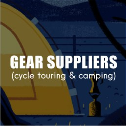 Find bikepacking, touring and camping gear.