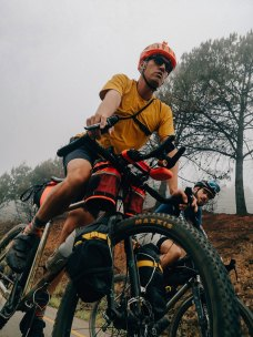 Two seriously big guns in the world of Ultra bicycle racing, Jesse Carlsson and Xavier Massart