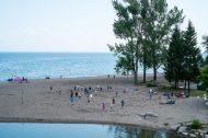 One of the beaches along Lake Ontario
