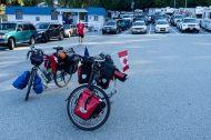 a touring buddy! alex, cycling montréal-tofino