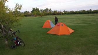 On our first night in Saskatchewan we camped at a rest area near Alsask (just over the border)