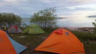 Camping on the shores of Lake Superior