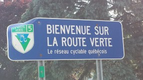 La Route Verte is a network of cycling paths around Quebec