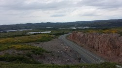 Climbed to the top of the rock face near the crest of this hill. What a view!