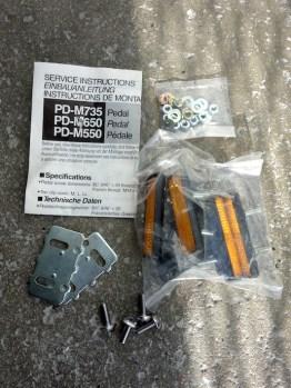 Shimano Deore XT LX DX pedal reflectors