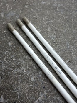 Shimano SIS gear outer cable set in white