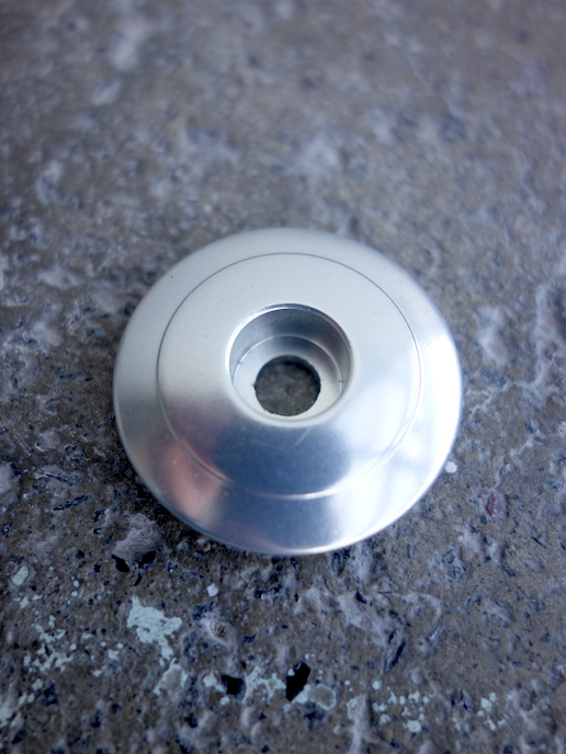 """Chris King headset top cap for 1 1/8"""" aheadsets in silver"""