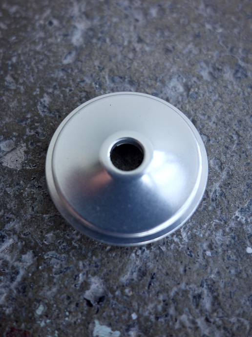 "Chris King headset top cap for 1 1/8"" aheadsets in silver"
