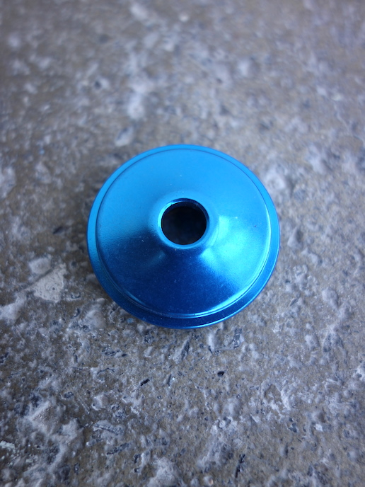 """Chris King headset top cap for 1"""" aheadsets in blue"""