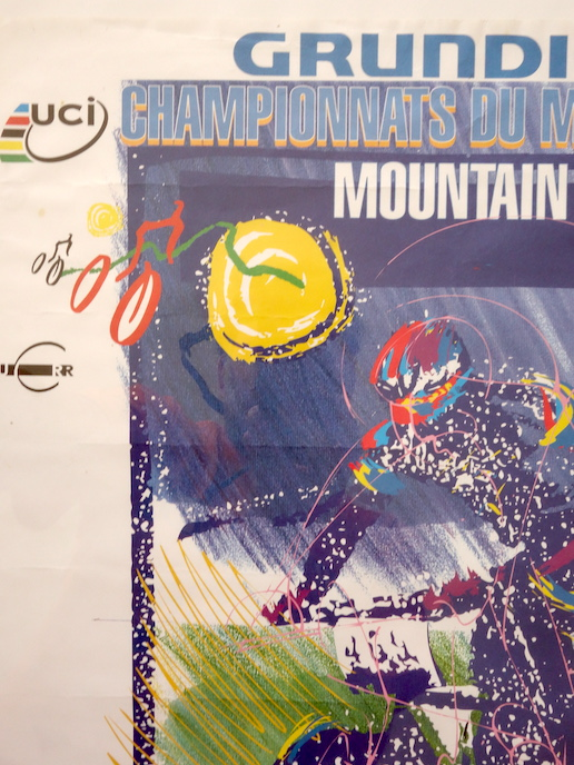 World Champs MTB race poster Grundig Chateau-D'OEx '97