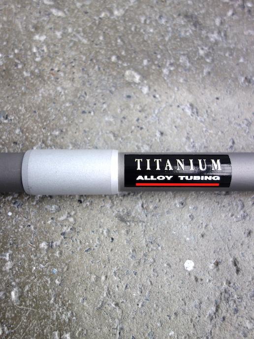 Raleigh Titanium bar flat MTB