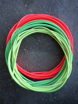 Neon brake outer cable