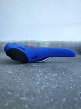 Serfas ARC Kevlar saddle - steel rails blue