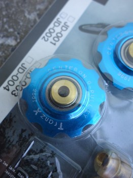 Tranz X CNC jockey wheels – Blue