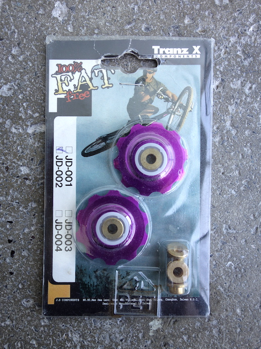 Tranz X CNC jockey wheels – Purple