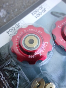 Tranz X CNC jockey wheels – Red