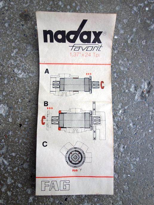 FAG Nadax Favorit sealed bottom bracket – BSC x 113