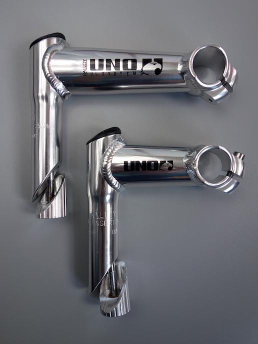 "Kalloy Uno 1 1/8"" quill stem – Silver / 90 deg"