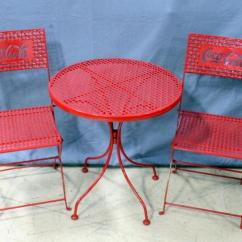 Coca Cola Chairs And Tables Indoor Swing Chair Uk Coke Folding Metal Patio 2 Table 24 Dia X 26 H Lot 206 Of 383