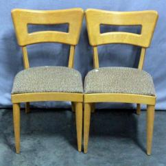 Heywood Wakefield Dogbone Chairs Baby Sleeping In Vibrating Chair Mid Century Dog Bone Dining Qty 2 Lot 4 Of 249