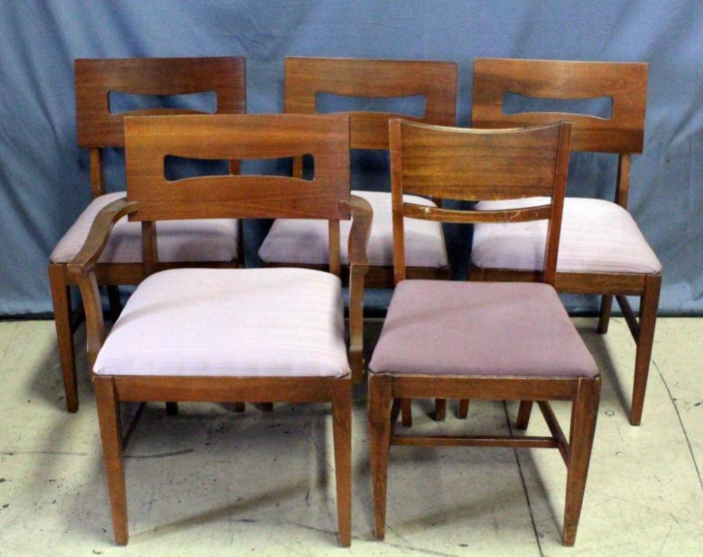 Heywood Wakefield Dining Chairs Mid Century Modern Heywood Wakefield Style Dogbone Dining Chairs