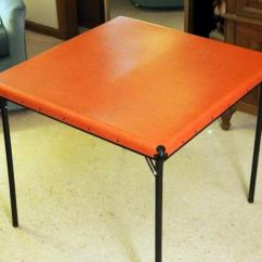 Vinyl Folding Lawn Chairs Chaise Lounge Vintage Card Table With Side And Lot 49 Of 310 Foot Stool