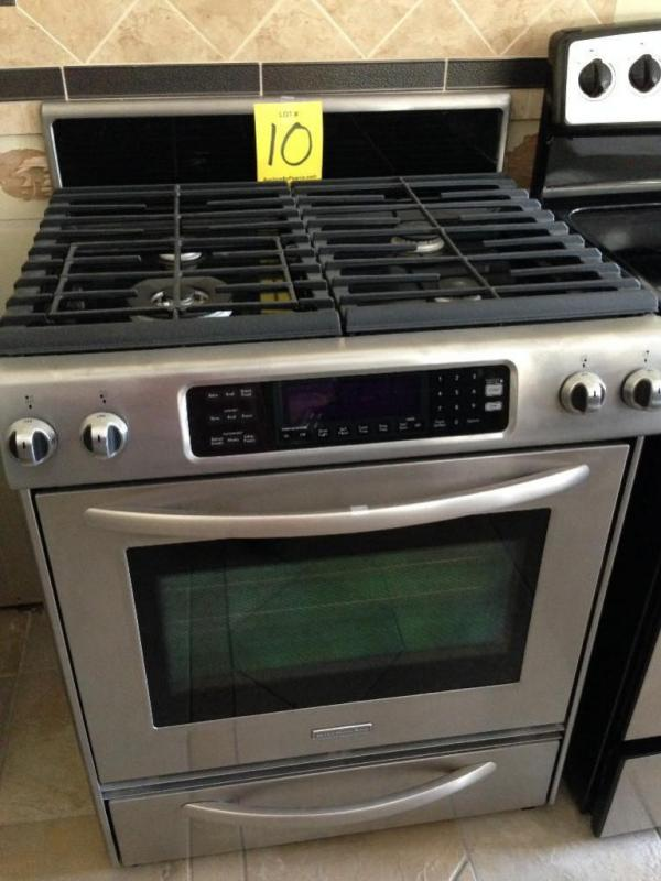 kitchen aid gas stove stainless steel wall panels commercial range 4 1 cu ft convec oven 30 warming drawer lot 10 of 531 mo kgrs807ss