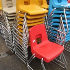 Artco Bell Chairs Wholesale Banquet 10 Molded Plastic School With Chrome Triangular Legs Lot 92 Of 323 Including Brand 26 5 H X 1