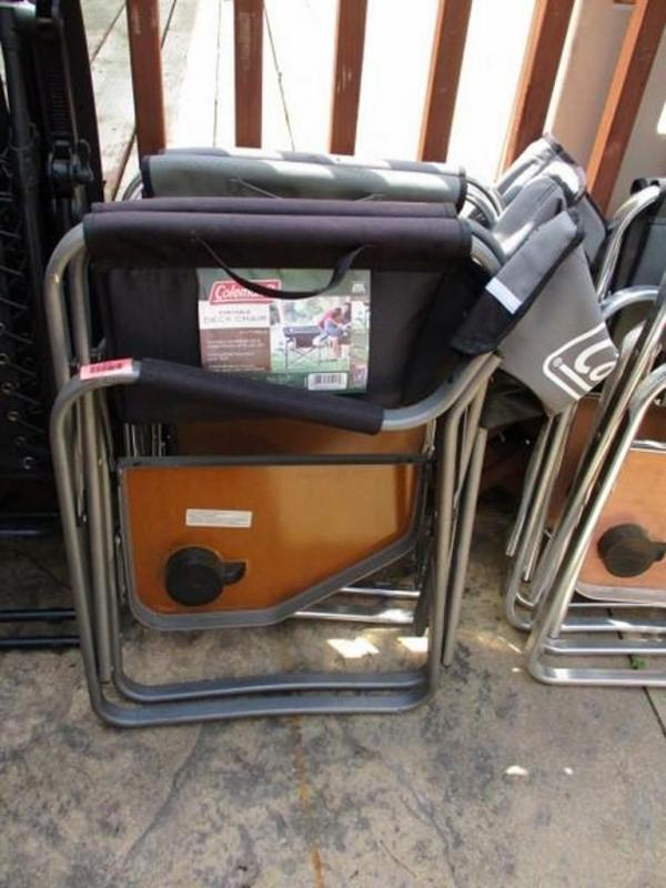 coleman portable deck chair swing mumbai 2 chairs lot 424 of 129