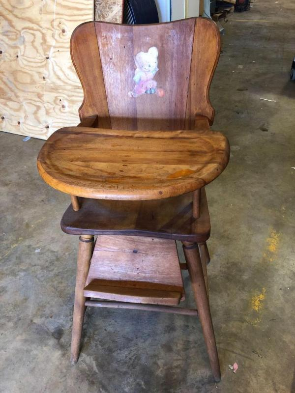 vintage wooden high chair kitchen covers amazon excellent condition 38 5 tall seat is lot 22 of 342 24 from floor