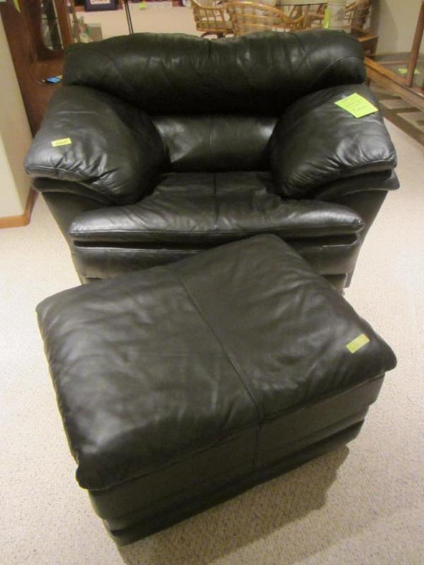 black leather chair and a half cane back chairs for sale sealy with rolling ottoman current please wait click image to enlarge