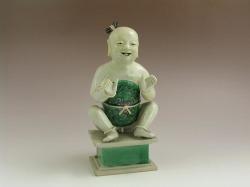 18th C. Chinese Famille Verte Kangxi Boy