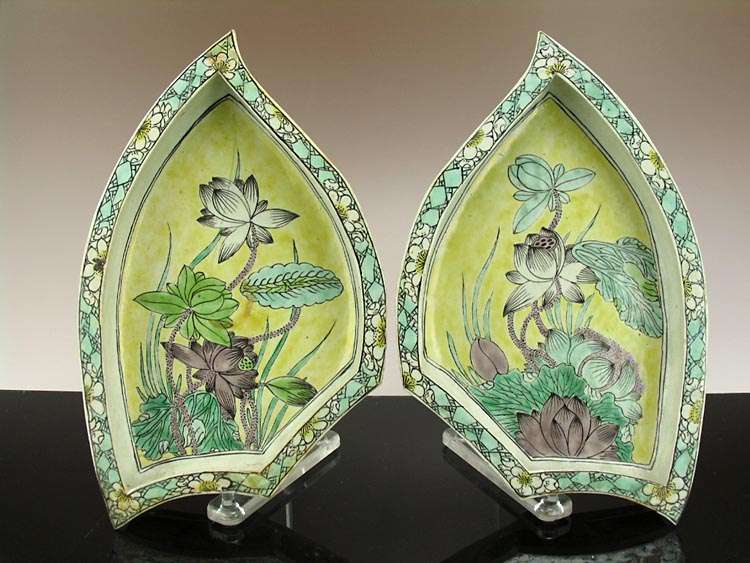 18th C. Chinese Kangxi Leaf Dishes