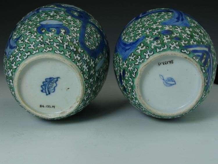 Chinese Kangxi Famille Verte tea Caddies
